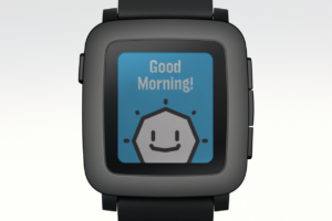Pebble Time: Good Morning!