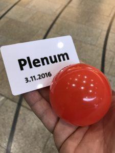 Arbeitnehmerempfang der SPD-Fraktion NRW: Abstimmungsball und Plenumskarte