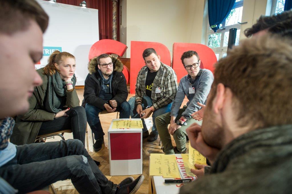SPD-Kongress #GuteArbeitVerbindet: Diskussion der Teilnehmer (Foto: Simone Neumann)