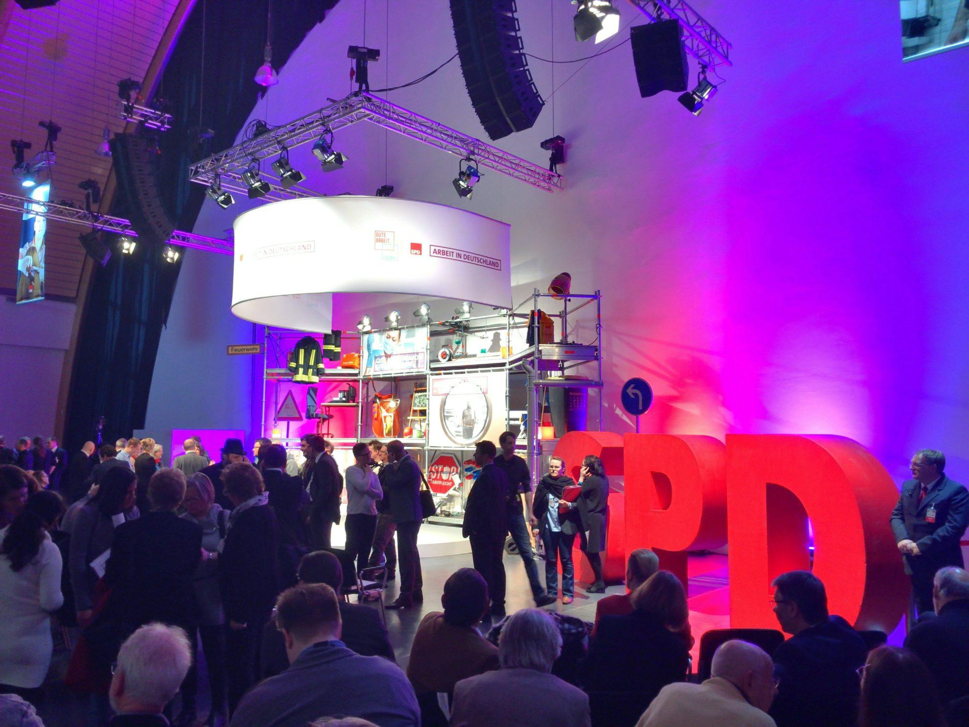 Bei der Arbeitnehmerkonferenz #GuteArbeitVerbindet #SPD