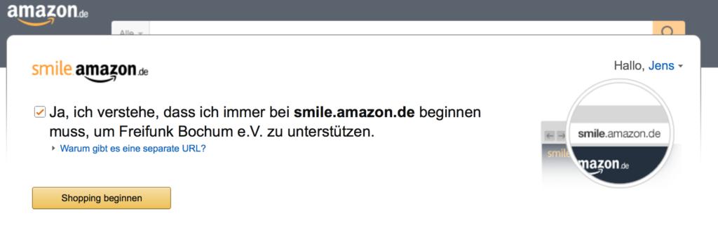 Den Freifunk Bochum #FFBO als Amazon-Kunde unterstützen: via smile.amazon.de