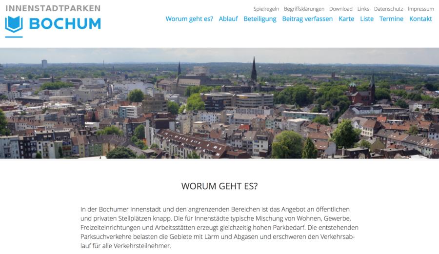 Website innenstadtparken-bochum.de