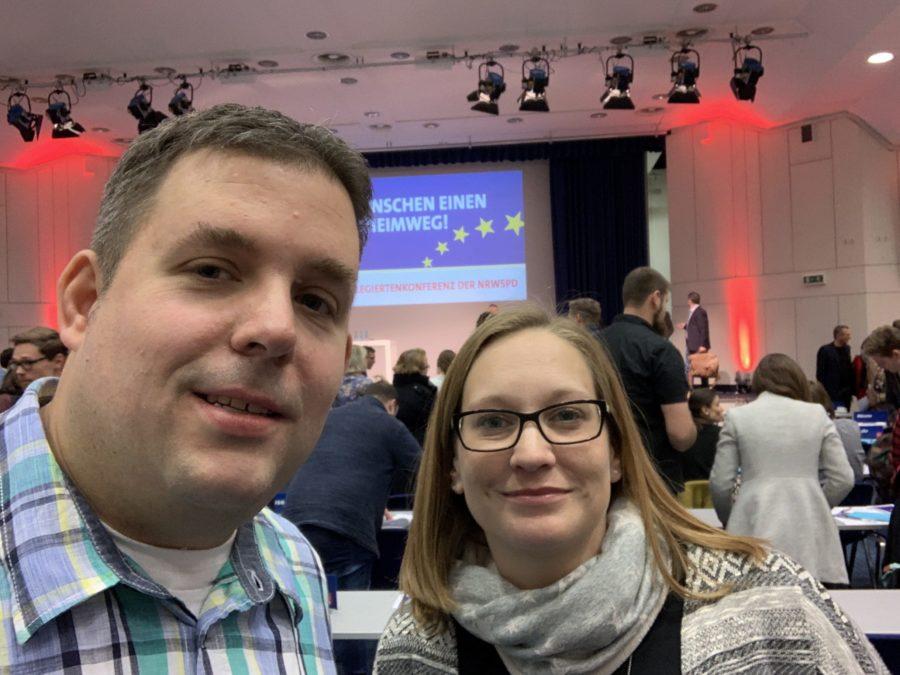 Europadelegiertenkonferenz der NRWSPD (17.11.2018): Zwei von der 47. KommunalAkademie der SPD/Bundes-SGK: Jens Matheuszik (Bochum) und Stefanie Lippelt (Kreis Unna)