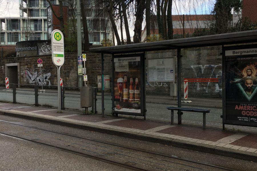 Haltestelle Bergmannsheil im Bochumer Ehrenfeld #boEhrenfeld