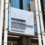 """Banner am Schauspielhaus Bochum (zum Stück """"Bochum"""")"""