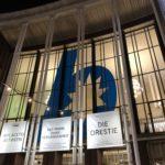 """Banner am Schauspielhaus Bochum (u.a. zu den Stücken """"Der Mann ohne Vergangenheit"""", """"Die Orestie"""")"""