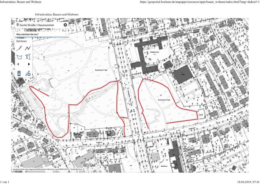 Rechener Park: Sanierung von Wegen