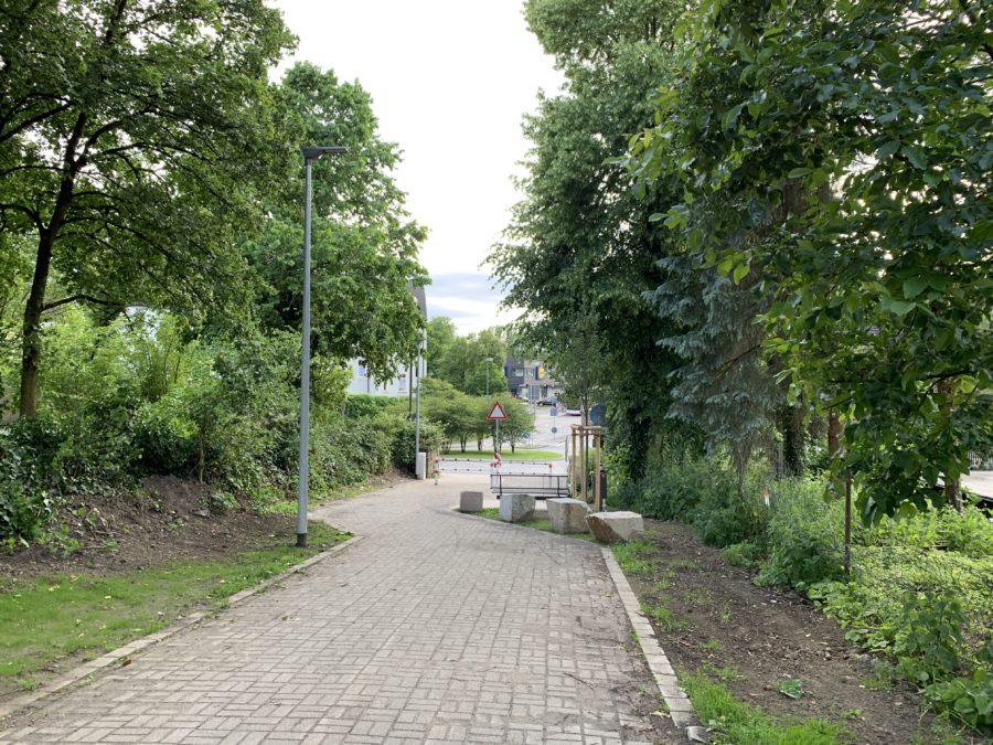 Springorumradweg mit Blick auf die Dr.-C.-Otto-Straße in Bochum