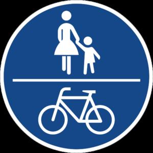 Verkehrsschild 240 (Gemeinsamer Fuß- und Radweg)
