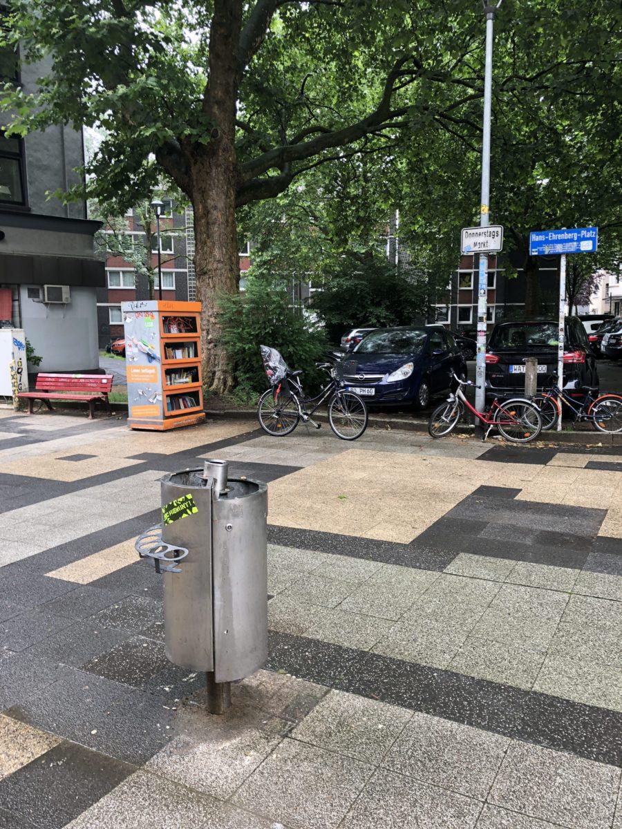 Pfandring am Hans-Ehrenberg-Platz im Bochumer Ehrenfeld