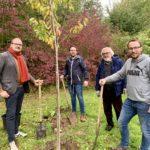 Einheitsbuddeln Bochum am 03.10.2019: Alexander Knickmeier, Lennart Schnell, Henry Donner und David Schnell