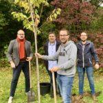 Einheitsbuddeln Bochum am 03.10.2019: Alexander Knickmeier, Jens Matheuszik sowie Lennart und David Schnell