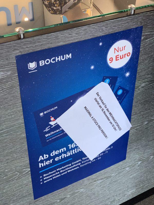 Verkaufsstart für den Bochumer Weihnachtspass 2019 am 16. November 2019