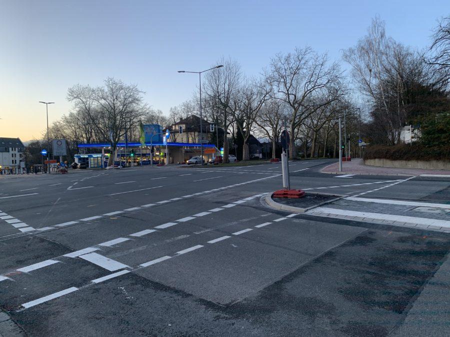 Blick auf die Kreuzung Königsallee/Wasserstraße