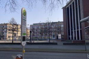 (wieder geöffnete) Bogestra-Haltestelle Schauspielhaus an der Königsallee