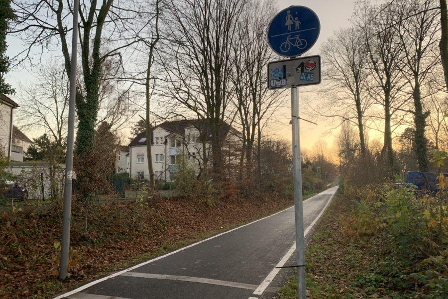 Springorumtrasse in Bochum (Richtung Bochumer Südwesten)