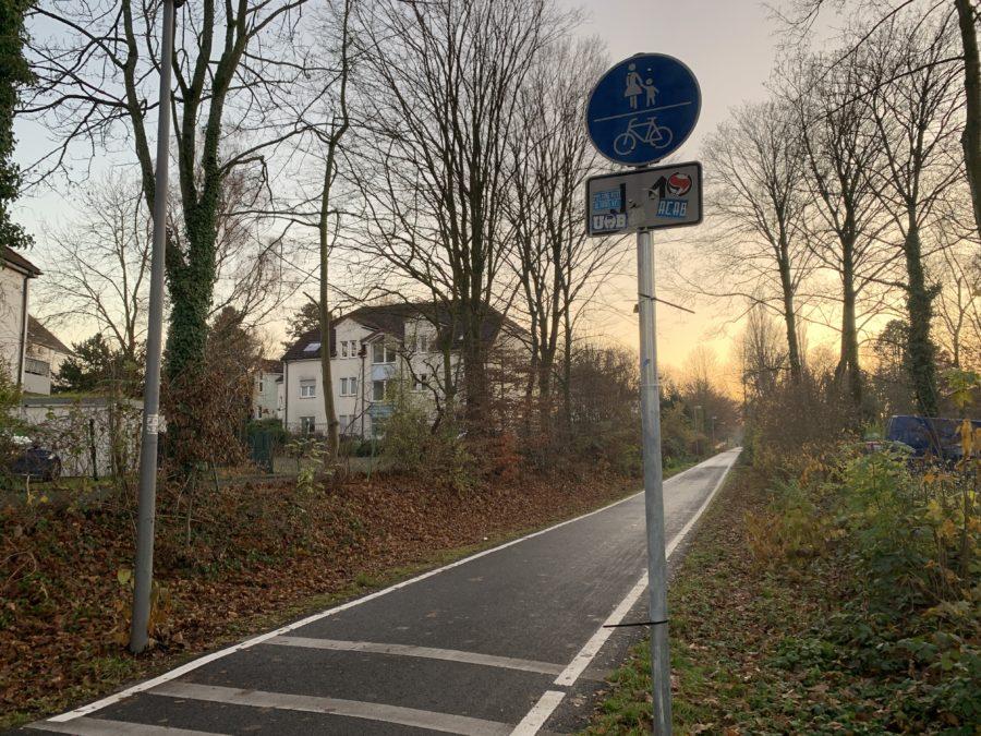 Springorum-Trasse in Bochum (Richtung Bochumer Südwesten)