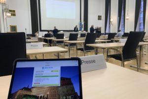 Ausschuss für Infrastruktur und Mobilität der Stadt Bochum im Ratssaal / und der Bereich für die Presse