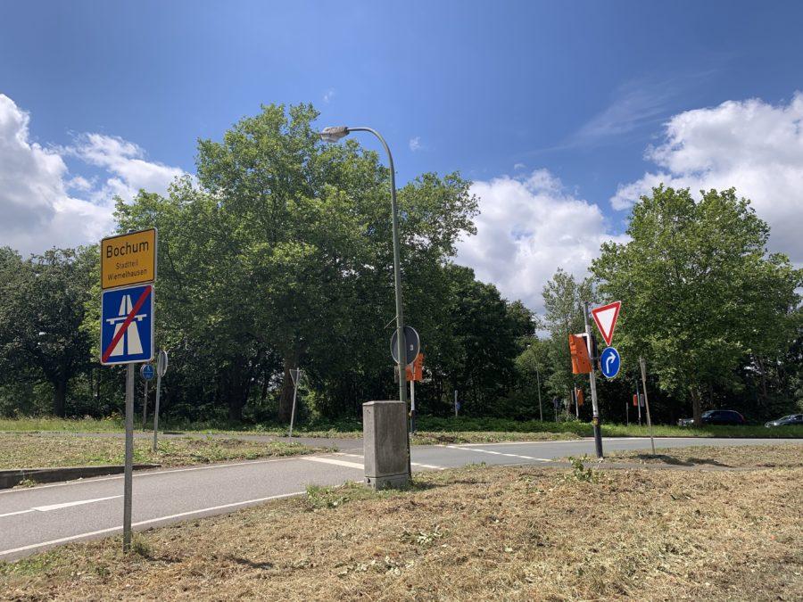 Ampel an der Kreuzung A448/Königsallee in Bochum-Wiemelhausen: zu diesem Zeitpunkt leider defekt