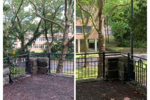 Sanierte Balustrade im Rechener Park im Bochumer Ehrenfeld - gegenüber der Graf-Engelbert-Schule (Terassenbauwerk an der Königsallee)