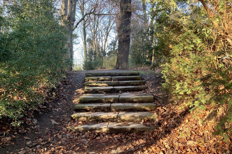 Treppe im Rechener Park