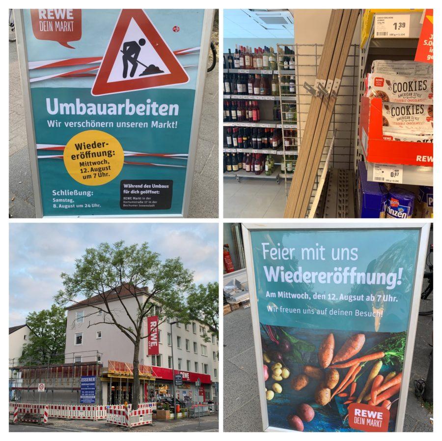 Umbauarbeiten beim Rewe an der Königsallee / Wiedereröffnung am 12. August 2020