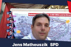 Jens Matheuszik zum Radschnellweg Ruhr RS1 in Boch-Mitte und im Ehrenfeld