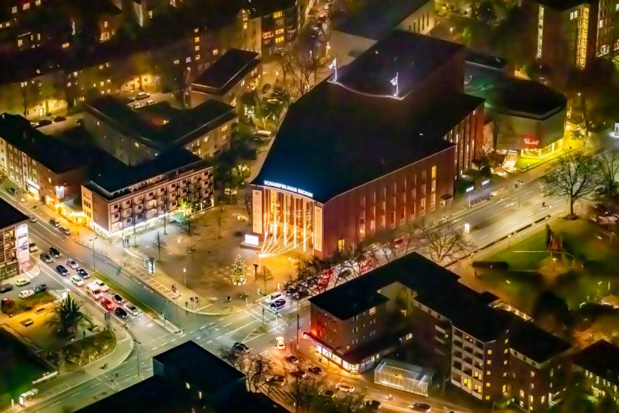 Schauspielhaus Bochum: Luftbild im Dunklen
