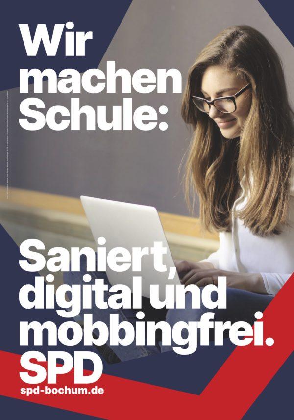 Wir machen Schule: Saniert, digital und mobbingfrei.