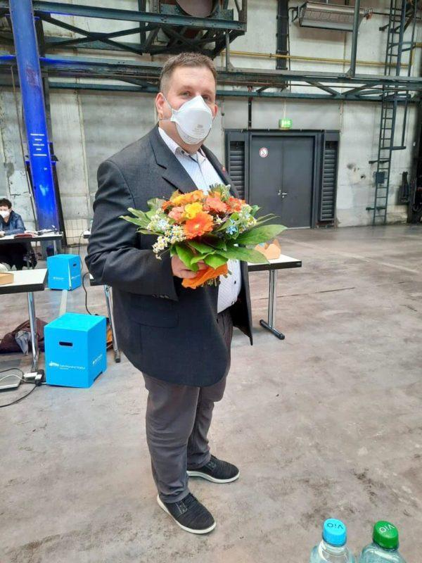 Jens Matheuszik nach der Verpflichtung