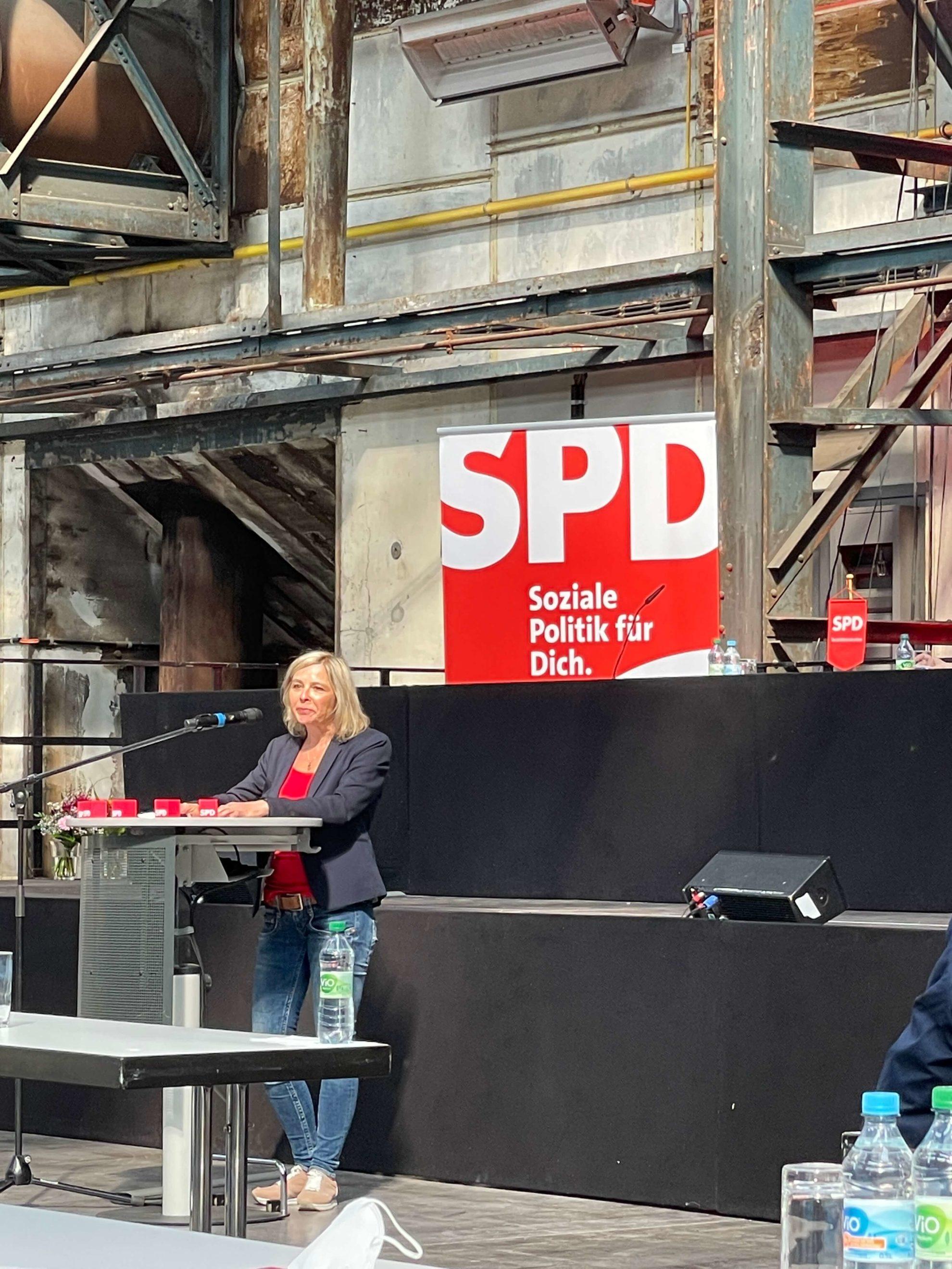 Andrea Busche beim Parteitag der SPD Bochum am 26. Juni 2021