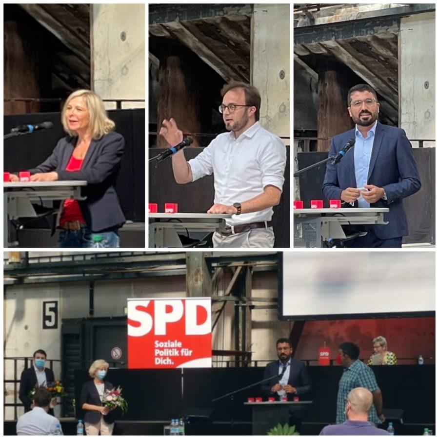Andrea Busche, Bastian Hartmann und Serdar Yüksel - und unten gibt es Blumen für mich von Martina Schnell