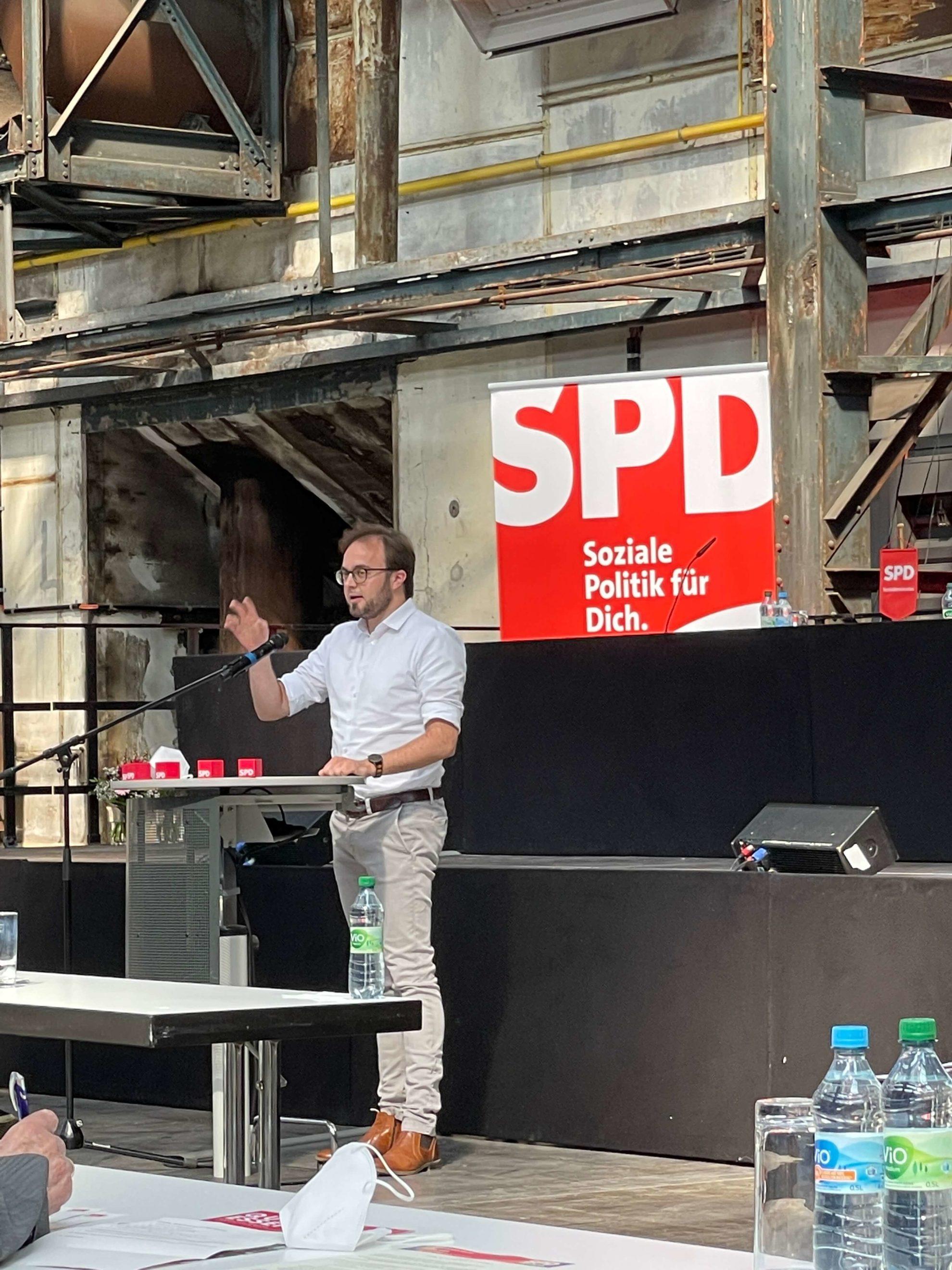 Bastian Hartmann beim Parteitag der SPD Bochum am 26. Juni 2021