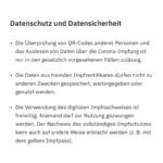 CovPassCheckApp (4): Datenschutzhinweise