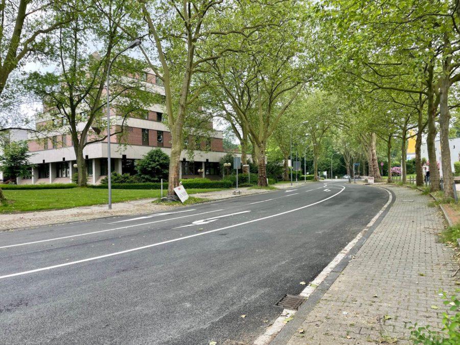 Friederikastraße (von Richtung Universitätsstraße aus kommend)