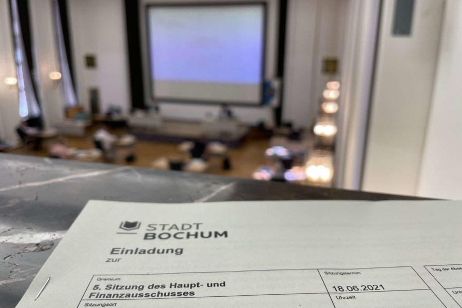 Sitzung des Haupt- und Finanzausschusses der Stadt Bochum (18.06.2021)