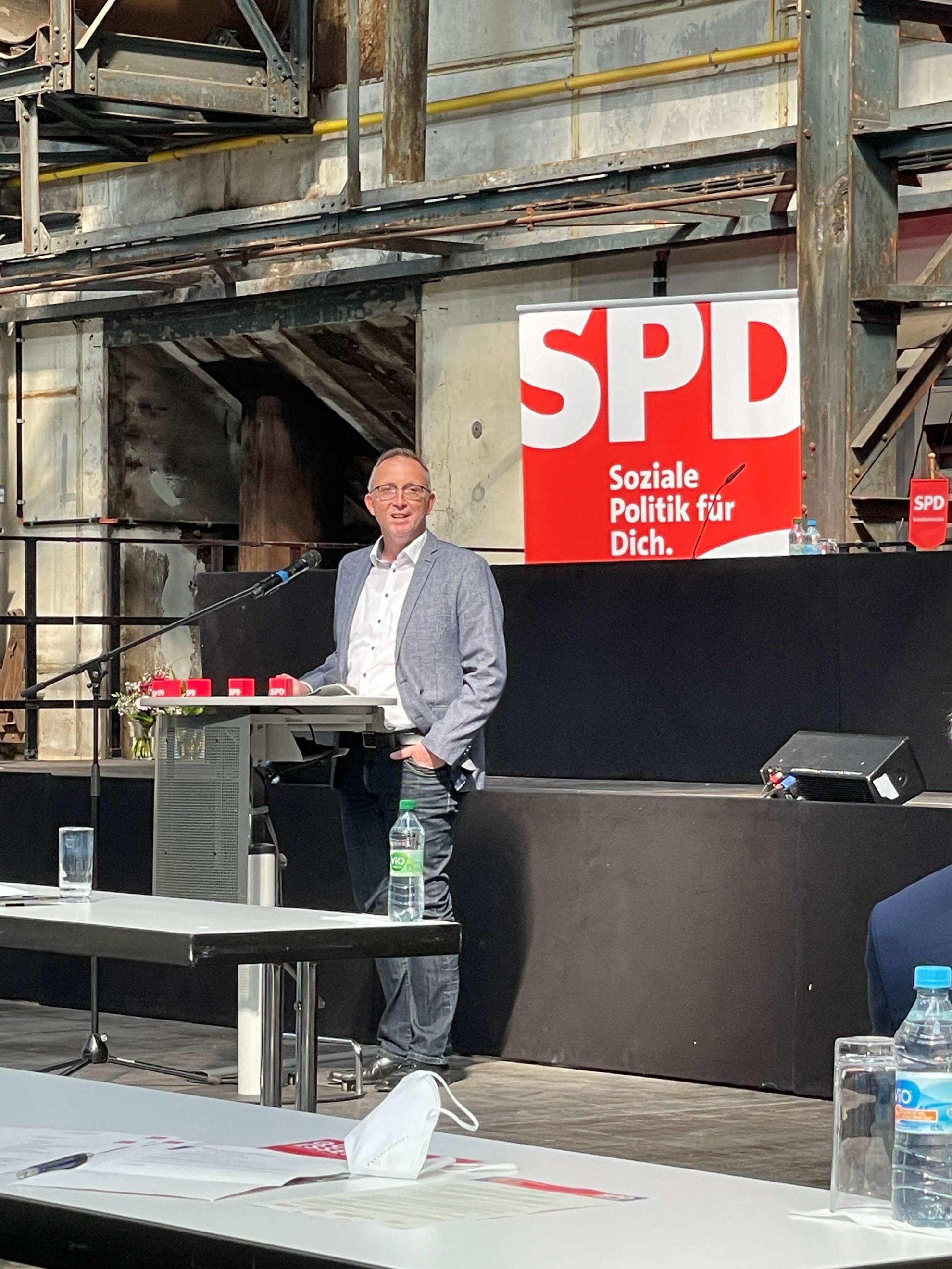 Marc Gräf beim Parteitag der SPD Bochum am 26. Juni 2021
