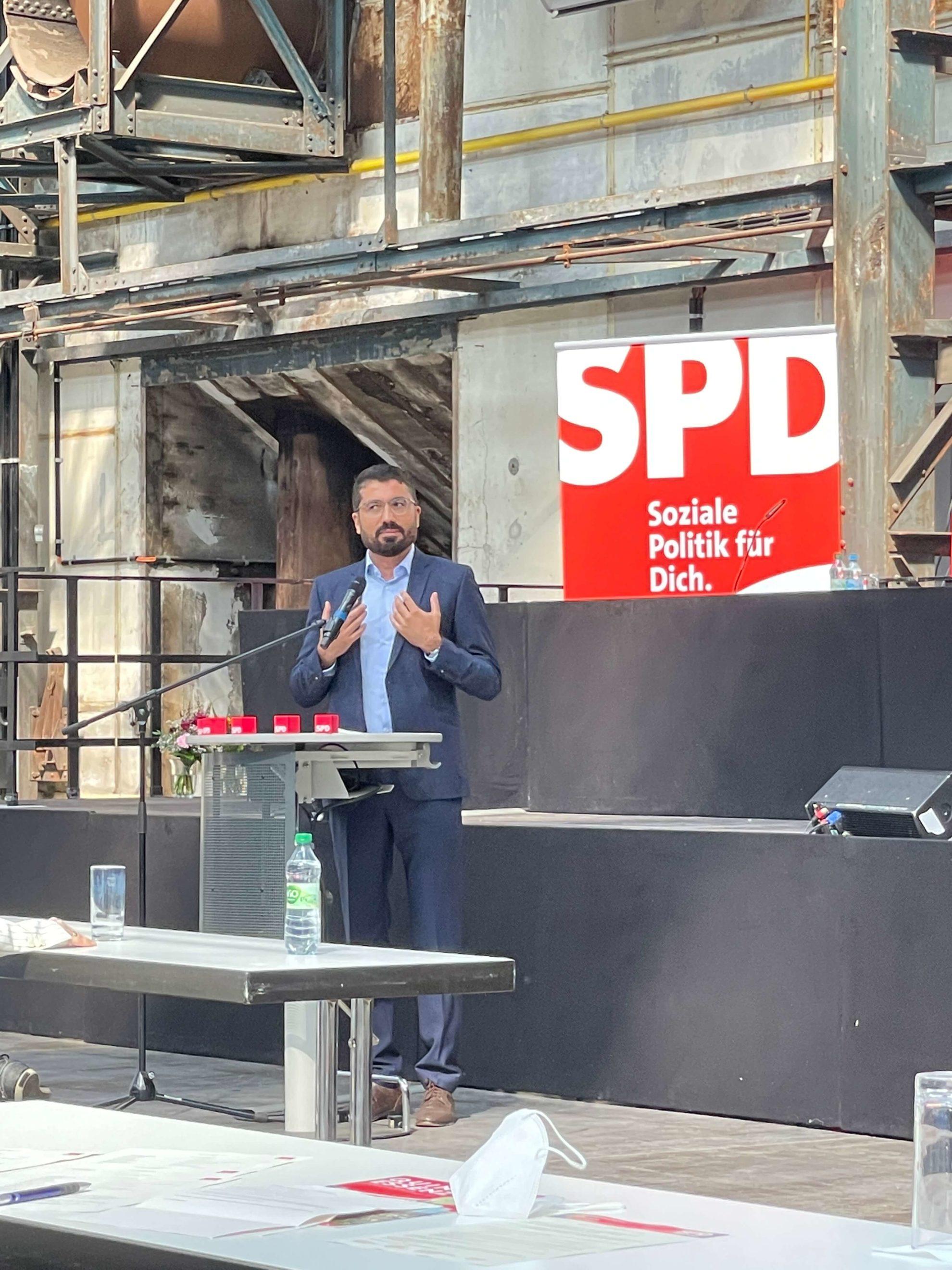 Serdar Yüksel beim Parteitag der SPD Bochum am 26. Juni 2021