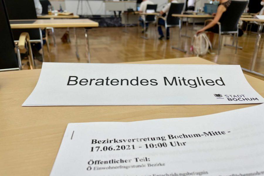 Beratendes Mitglied in der Bezirksvertretung Bochum-Mitte (Sitzung vom 17.06.2021)