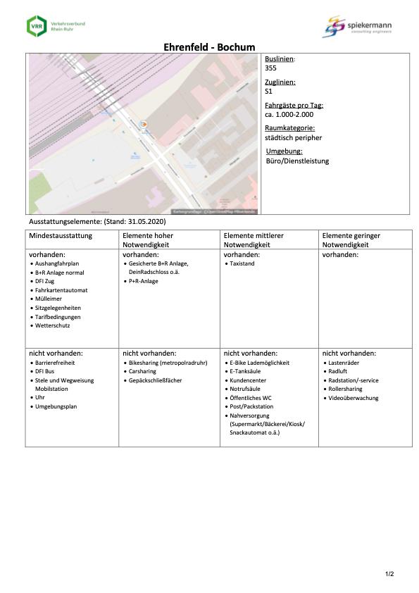 Steckbrief Ehrenfeld - Bochum (Mobilstationen nach VRR-Standard) - Seite 1 von 2