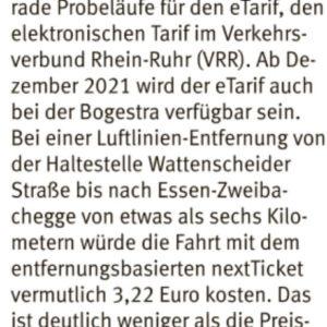 Leserbrief in der WAZ Bochum (05.08.2021)