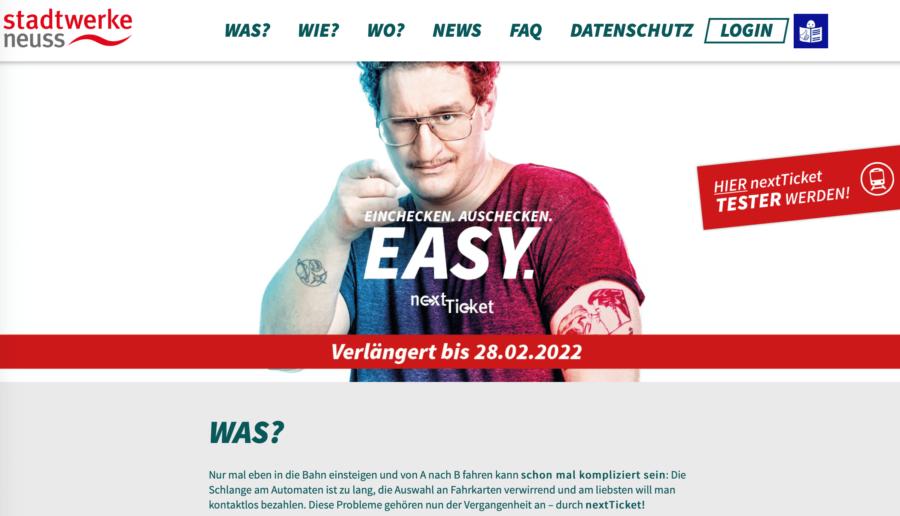 Website von nextticket.de